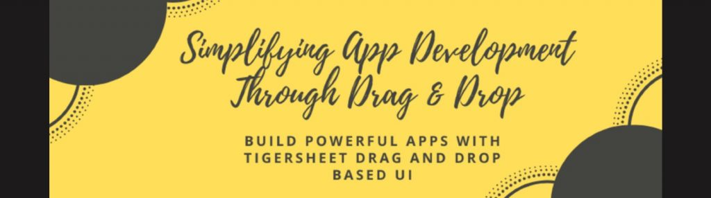 Build Powerful Apps with Tigersheet Drag and Drop Based UI