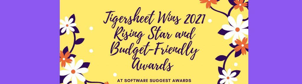 Tigersheet Wins 2021 Rising Star and Budget Friendly Software Award at Software Suggest Awards